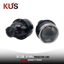 3,0 pulgadas D2H escondió niebla lente de proyector Bi Xenon alta y baja haz Universal lámpara de niebla uso D2H bombillas ocultas Xenon coche estilo de Retrofit