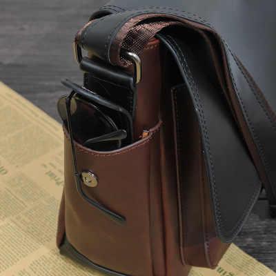 2020 nowy oryginalny design człowiek pu skórzana torebka koreański przekątnej torba męska torba na ramię casual męska listonosz torba