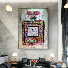Graffiti Perfume Street Art Canvas Print Painting Wall Picture Modern Fashion Women Living Room Home Decoration Poster