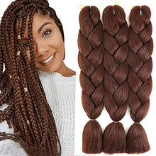 Jumbo Braiding Wholesale Hair Synthetic-Hair Afro Pre-Stretched 24inch Ombre 3piece/1pack