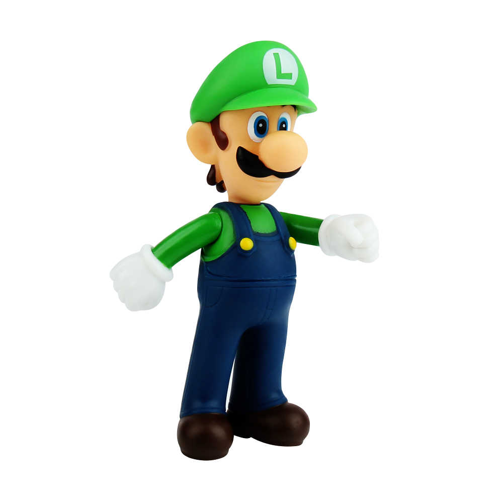 13cm Super Mario Bros Luigi PVC Action Figures Toys for Kids