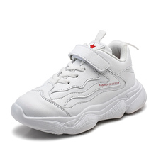 цена PU Leather Children Shoes Size 28-38 Waterproof Kids Sneakers Breathable Girls and Boys Sports Shoes Outdoor Trainers онлайн в 2017 году