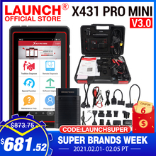 LAUNCH herramienta de diagnóstico de coche X431 Pro Mini V3.0, OBD OBD2, Bluetooth/Wifi, lector de código, escáner X 431 Pros Mini X431 V