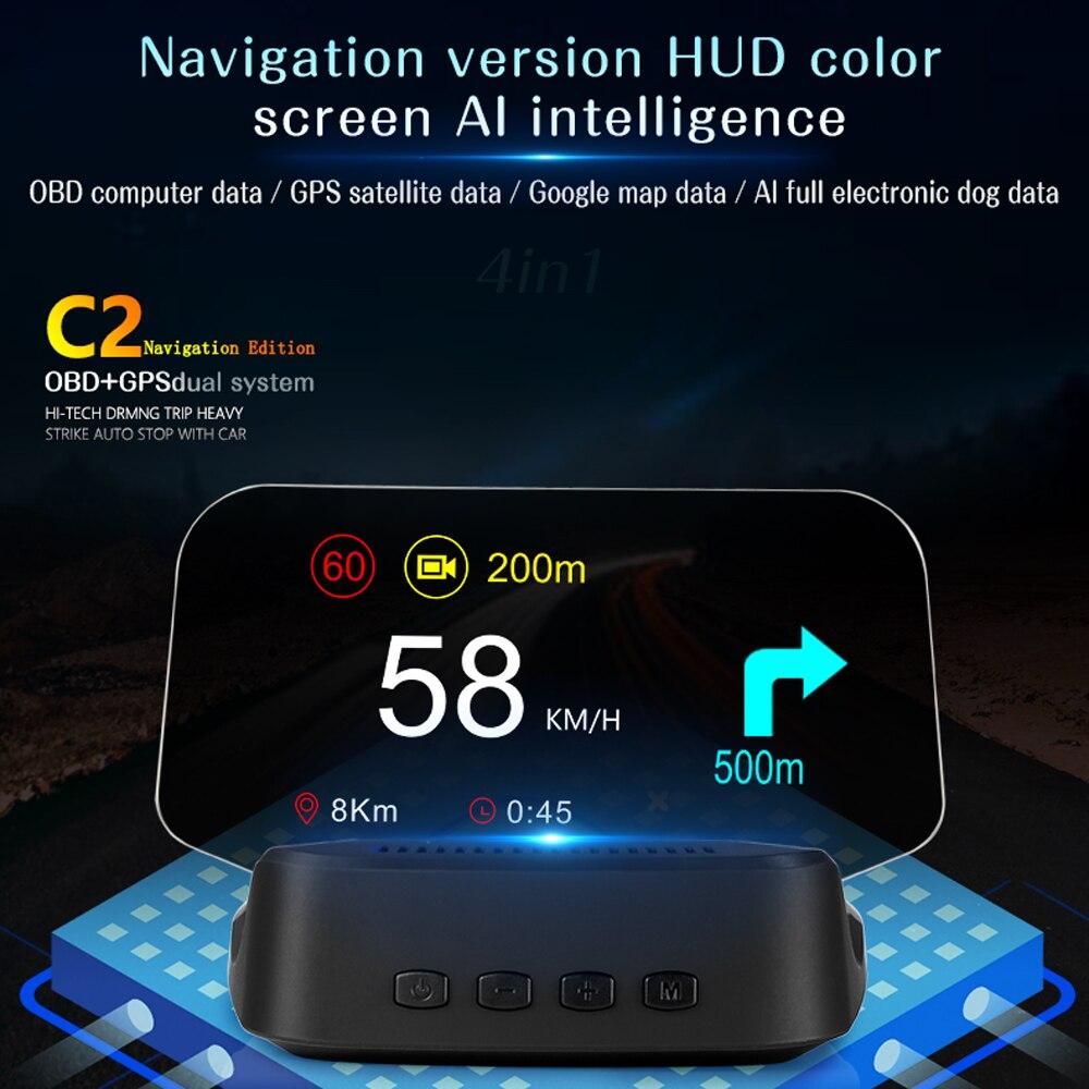 Купить автомобильный hud дисплей gps навигация obd2 дисплей на голову
