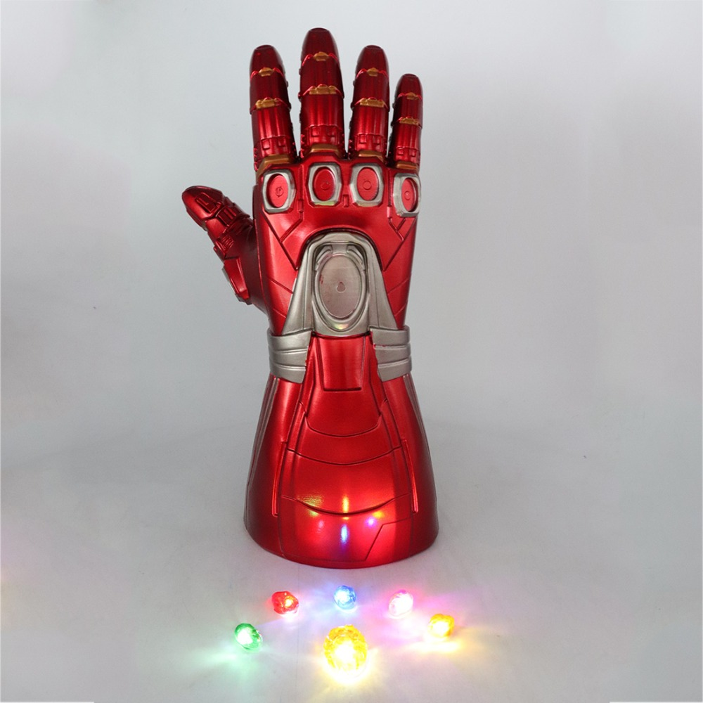 New Avengers Endgame IronMan Infinity Gauntlet Stones Detachable With Led Light Cosplay Arm Thanos PVC Gloves Superhero Weapon