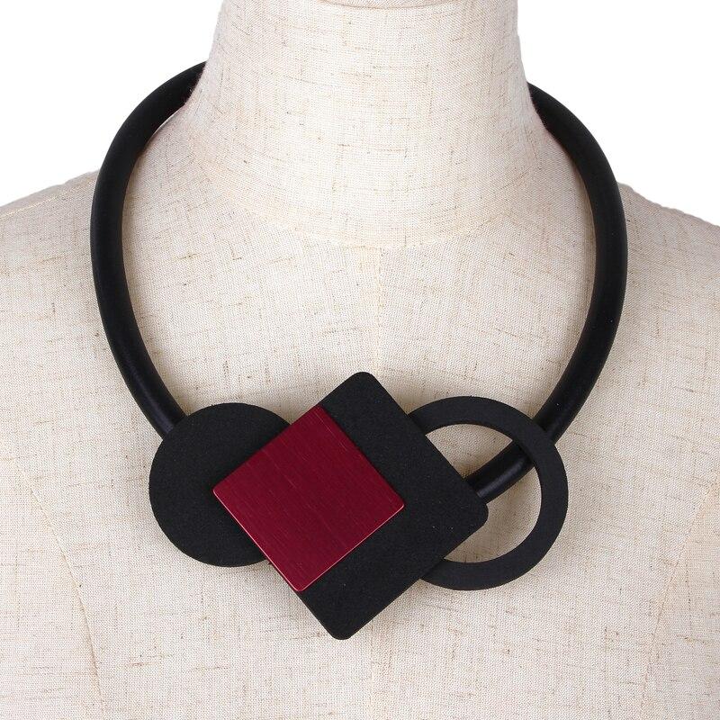 YD & YDBZ, красные металлические квадратные ожерелья с кулоном для женщин, панк-стиль, пенорезиновая веревка, чокер, цепочка, готическая одежда, костюм, ювелирные изделия