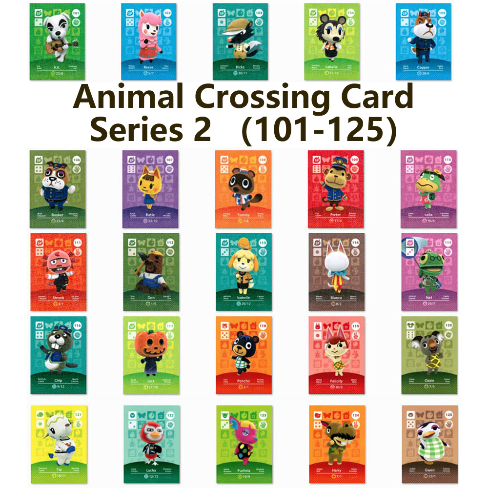Series 2 (101 To 125) Animal Crossing Card Amiibo Locks Nfc Card Work For NS Games Series 2 (101 To 125)