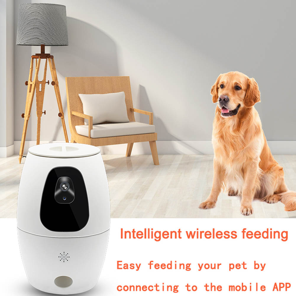 Dog Camera Treat Dispenser Remote Control Surveillance System WIFI Food Feeding Full HD Video Pet Home Smart Audio APP Support