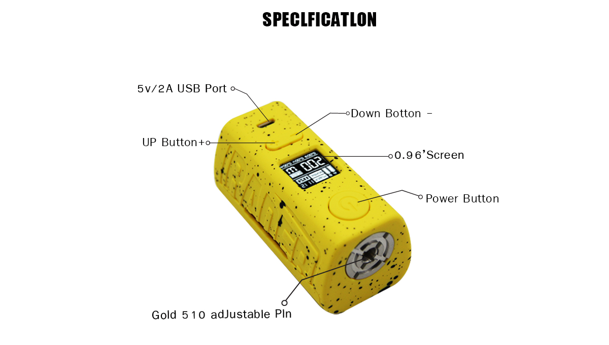 Hugo Vapor Rader ECO 200W Dual 18650 Battery Box Mod 4