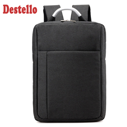 High quality black fashion style laptop backpack with metal double metal locks school bag bussiness traveling backpack for men