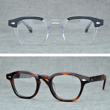 Round Handmade Acetate Frame Women Johnny Depp Glasses Men Brand Designer Computer Goggles Optical Spectacle frame Demi Myopia