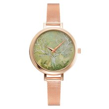 Women Quartz Watch Business Band Durable Wristwatch Stainles