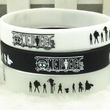 Wristband Bracelet Silicone-Rubber Women New-Fashion 1pcs Unisex One-Piece Anime Hot-Japan