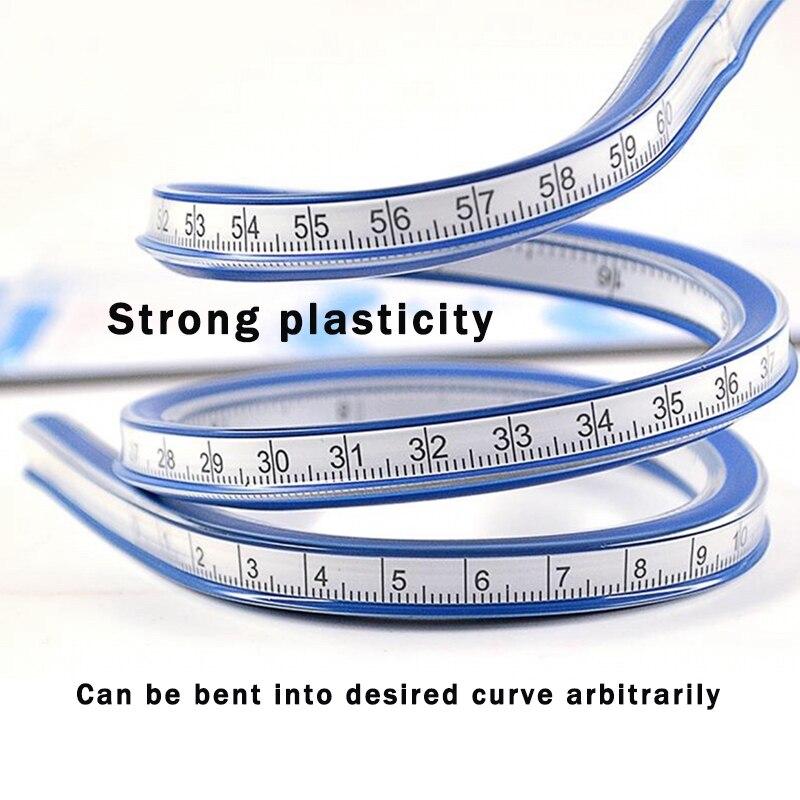 Regla curva Flexible, regla curva arbitraria suave, 30/40/50/60 cm, cinta de herramienta de medida de dibujo de PVC, regla de ropa, arquitectura Maqueta a escala de 5 uds, material de construcción, hoja de PVC, techos de azulejos en tamaño 210x300mm para diseño de arquitectura