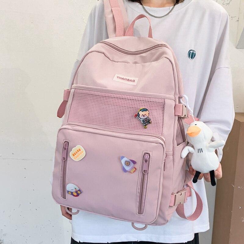Taoxiaolu Frauen Rucksack Mode Leinwand Laptop Rucksack Für Männer College Liebhaber Freizeit Tasche Mädchen Kawaii Reise Schulter Mochila