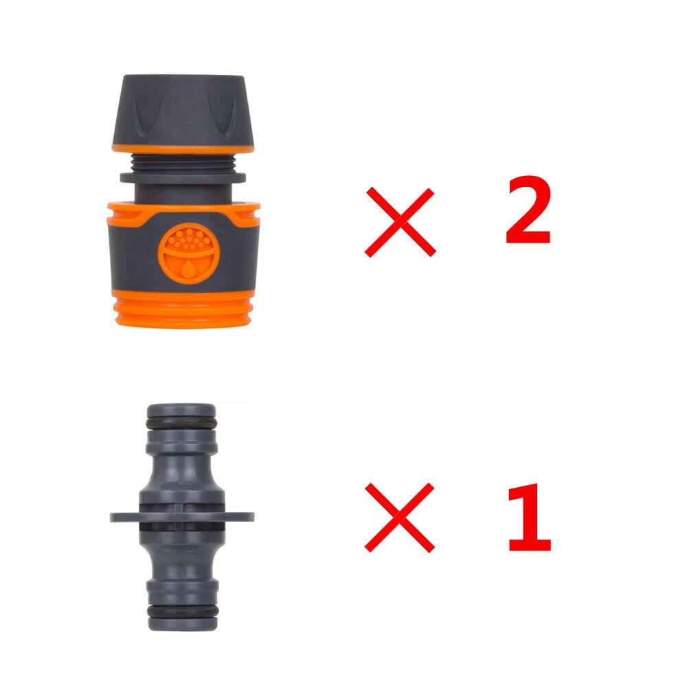 16mm Schlauch Schnell Anschluss Ventil Zwei Schlauch Verlängerung Wasser Rohr Bewässerung Werkzeug Set