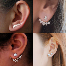 2019 new crystal flower drop earrings for women fashion jewelry golden silver rhinestone earrings gift for party best friend simple fashion rose yellow flower shape cute earrings women big drop earrings jewelry wedding gift for best friend drop shipping