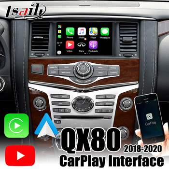 CarPlay Interface for Infiniti QX80 QX50 QX60 QX70 2018-2020 Android Auto support Youtube , USB display music by Lsailt image
