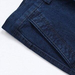 Image 4 - 남성을위한 새로운 도착 스트레치 청바지 봄 가을 남성 캐주얼 고품질 코튼 레귤러 피트 데님 바지 진한 파란색 바지 바지