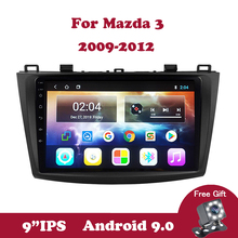 Android 9.0 IPS Touchscreen Quad-Core Car Stereo Radio Multimedia Player for Mazda 3 2004 2005 2006 2007 2008 2009 TPMS Wifi OBD
