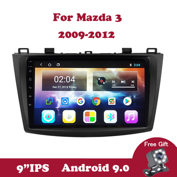 Android 9.0 IPS Touchscreen Quad-Core Car Stereo Radio Multimedia Player for Mazda 3 2004 2005 2006 2007 2008 2009 TPMS Wifi OBD image
