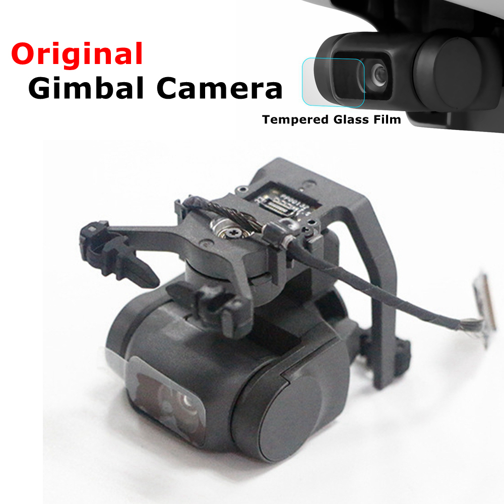 Original DJI Mavic Mini Gimbal Camera With Signal Line Flex Cable Tempered Glass Film Replacement Repair Parts Drone Accessories