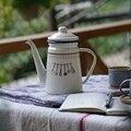1Л японский стиль капля кофе горшок эмаль с подогревом воды чайник