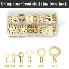 Terminals Ring-Tips Wires O-Type for M3 M4 M5 M6 M8 M10--Set Non-Insulated Non-Insulated