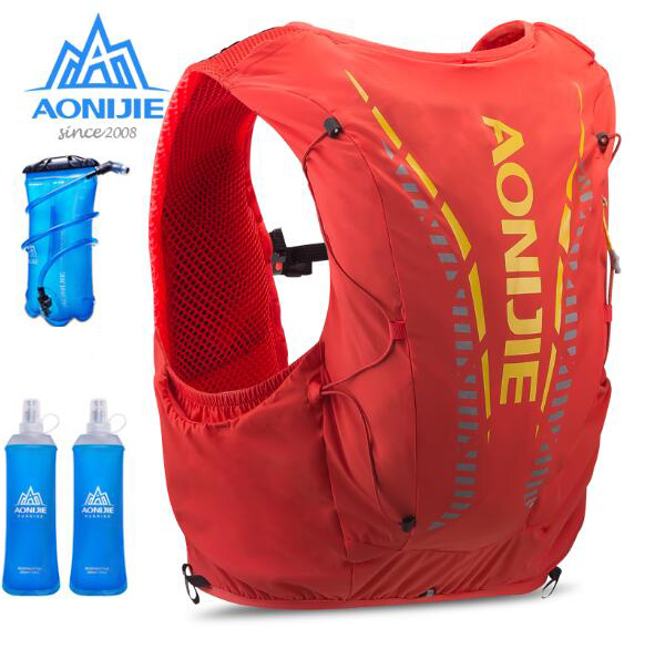 AONIJIE Advanced Skin 12L Hydration Bag Breathable Outdoor Backpack Ultralight Hiking Marathon Running Water Bladder Flask