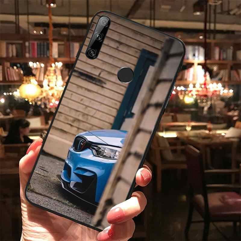 Niebieski czerwony samochód dla Bmw luksusowy unikalny projekt telefon pokrywa dla Huawei Y5 Y6 Y7 Y9 Prime Pro II 2019 2018