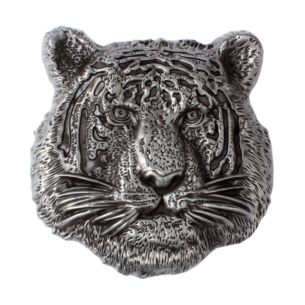 Western Cowboy Zinc Alloy 3D Tiger Head Belt Buckle Mens Retro Classic