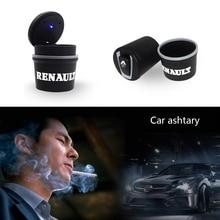 Car-Ashtrays Shaper Led-Lights Megane Cup-Holder Garbage-Coin-Storage RENAULT Clio