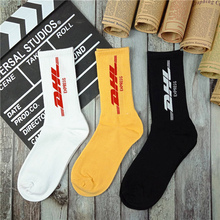 Mens Crew Cotton DHL Express Hip hop Socks Vetements Style Letter Print hipster