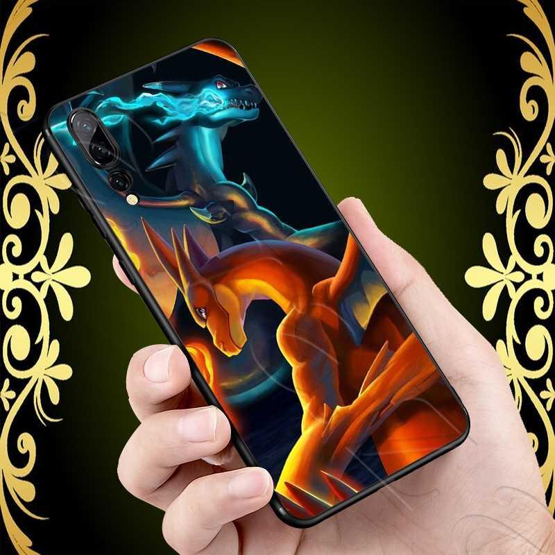 Lavaza Charizard molle per il Caso di Huawei P8 P9 P10 P20 P30 Y6 Y7 Y9 Lite Pro P Smart Nova 2i 3i Mini 2018
