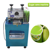 Multi zweck kommerziellen zuckerrohr saft maschine zuckerrohr saft extractor squeezer edelstahl zuckerrohr Entsafter 220 V/370 W-in Entsafter aus Haushaltsgeräte bei
