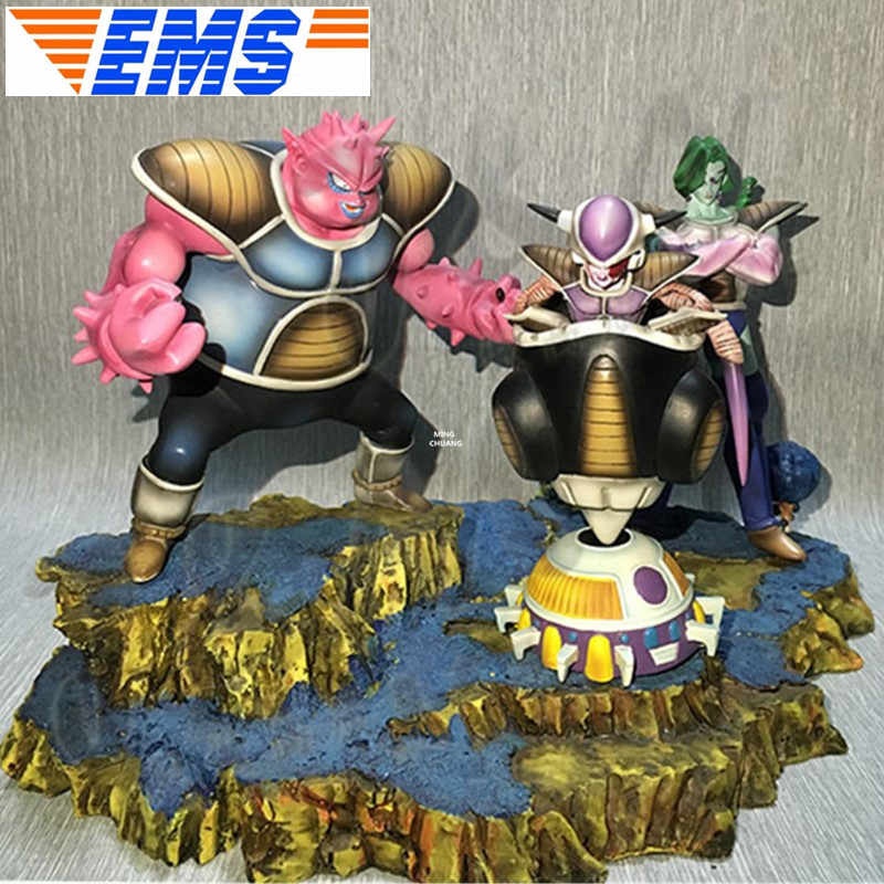 3 pçs/set Freeza Dragon Ball Z Estátua Busto Zarbon Dodoria Full-Length Retrato Dos Desenhos Animados GK Action Figure Toy BOX 32CM V130