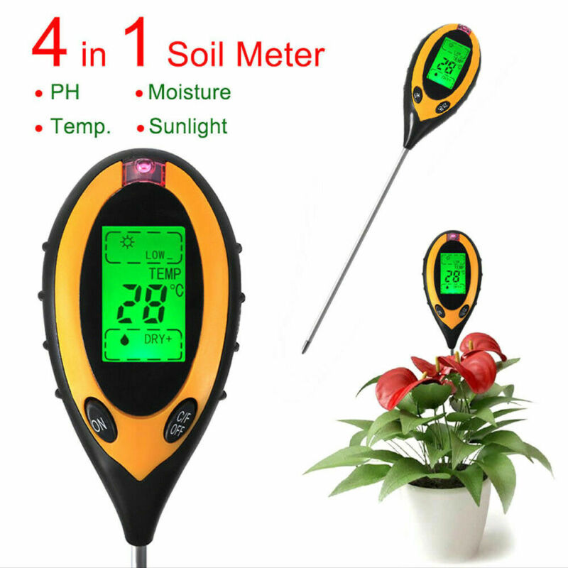 4 In 1 PH Soil Tester Water Moisture Sunlight Test Meter For Garden Flower Plant