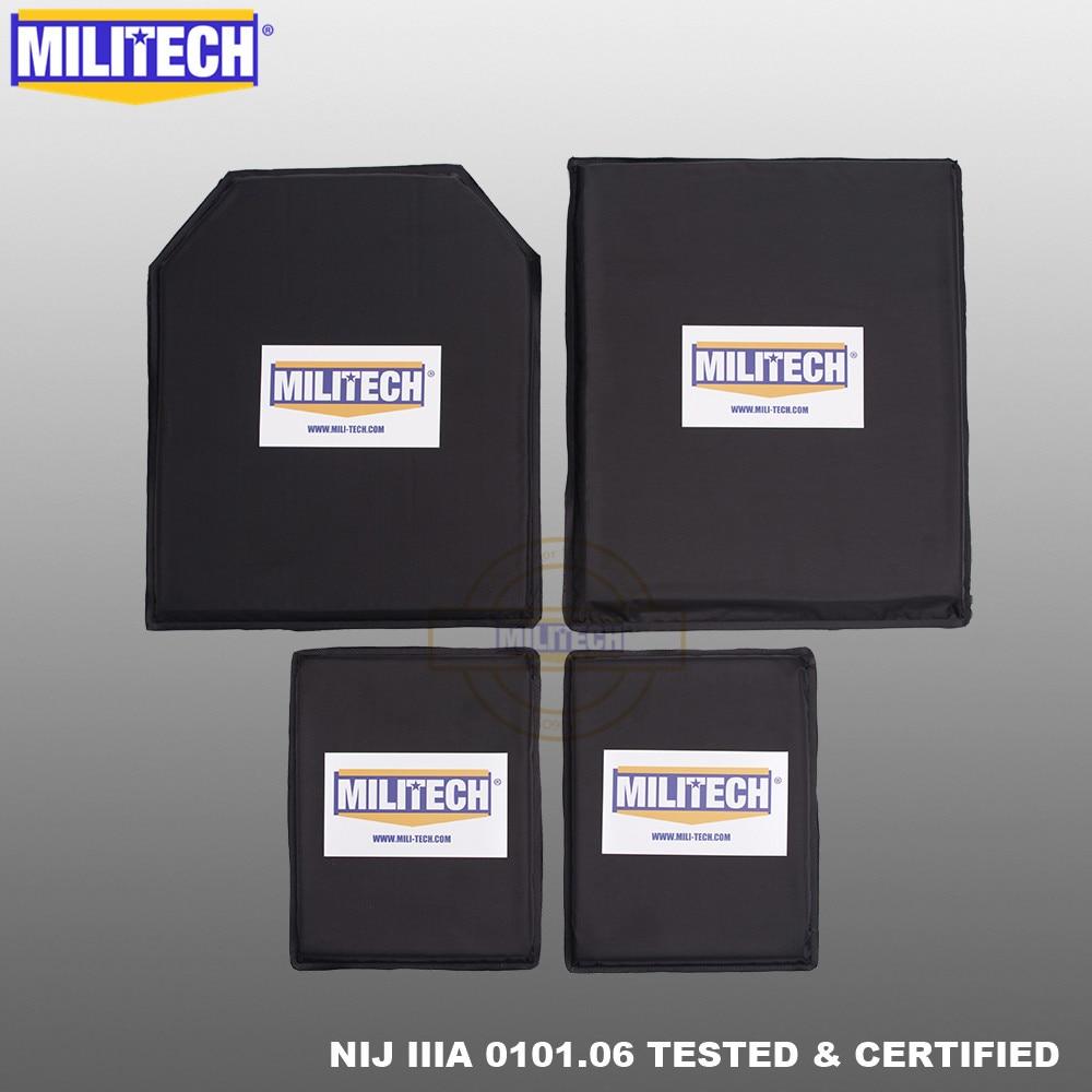 MILITECH 10 X 12 STC&SC And 6 X 8 Pairs Set Aramid Soft Armour NIJ Level IIIA 3A Ballistic Panel Bullet Proof Plate Body Armor