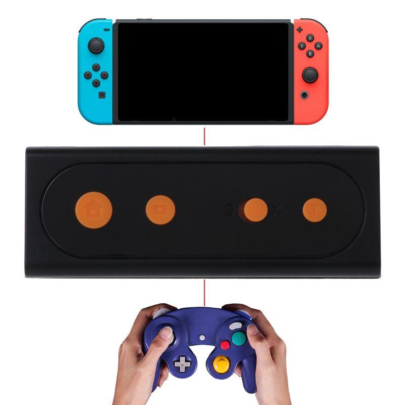 Drahtlose Bluetooth Konverter Durable Griff Gamepad Controller Konverter Spiel Zubehör für Schalter GC PC Zubehör LX9A