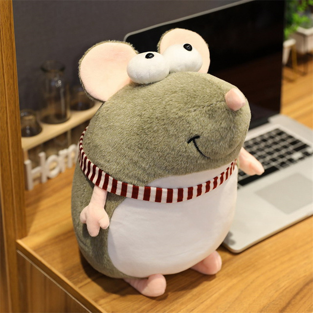 2020 Kawaii Mouse Mascot Pillow Soft Plush Stuffed Dolls Animal Toys For Children Girl Room Decor New Year Gifts Company Present
