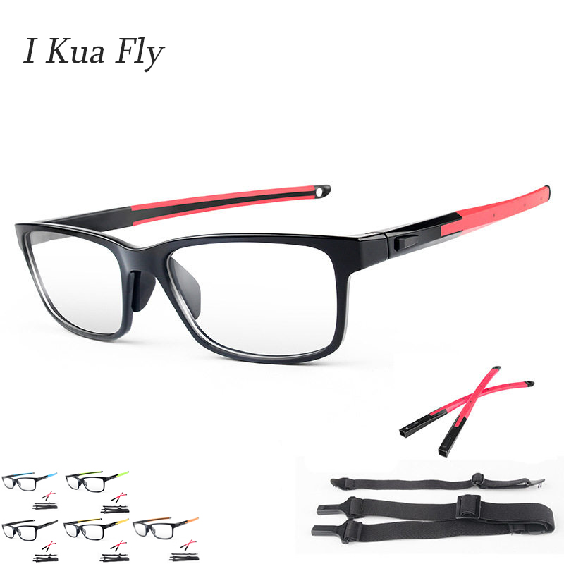 New Basketball Glasses Men Women Prescription Glasses TR90 Frame Black Square Driver Sport Glasses Oversized MTB Cycling Z4