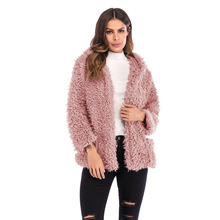 Fashion Autumn and Winter Hooded Trench Women 2019 Multicolor Casual Warm Parka Coat Street Elegant Furry Hip Hop