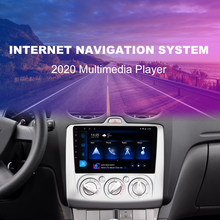 Podofo Android 9.1 Car Radios GPS WIFI Split Screen 2 Din Car Multimedia player 9'' Audio Player For Ford Focus 2004 - 2011(China)
