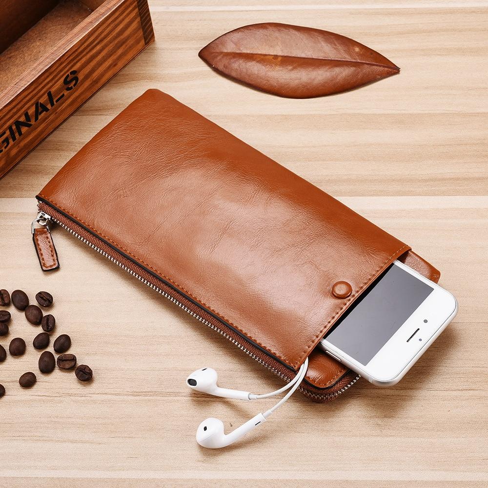 MEDYLA Men's Wallet Fashion Long Wallet Multi-card Portable Wallet Phone Bag Zipper Purse Fashion Casual Bag