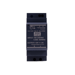 Image 2 - Original Mean Well HDR 30 12 DC 12V 2A 24W meanwell Ultra Slim Step Shape DIN Rail Power Supply
