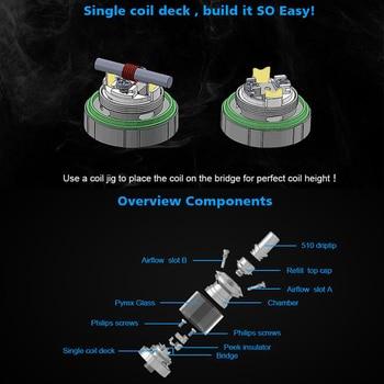 Steam Crave – Kit de Cigarette électronique, Mini Robot Combo Vape, réservoir reconstructible, batterie unique 18650, MTL RTA