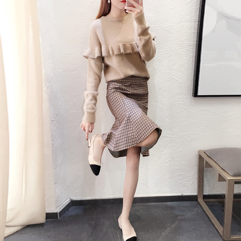 Skirt Autumn And Winter 2019 New Style Korean-style Fashion WOMEN'S Dress Elegant Commuting Young Fishtail Skirt A Generation Of