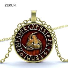 цены LIAOZEKUN.2019 / Van Gogh Triangular Pattern Glass Pendant Necklace Men and Women Jewelry