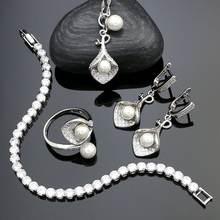 Ювелирные наборы для невесты из стерлингового серебра 925 пробы