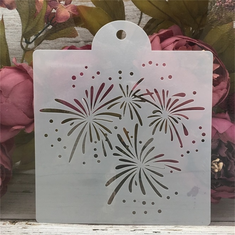 15*17.5cm  Firework DIY Craft Layering Stencils Painting Scrapbooking Stamping Embossing Album Paper Card Template